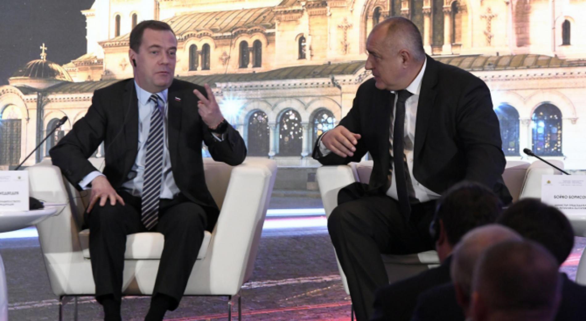 Борисов и Медведев обсъдиха доставките на туркменски газ