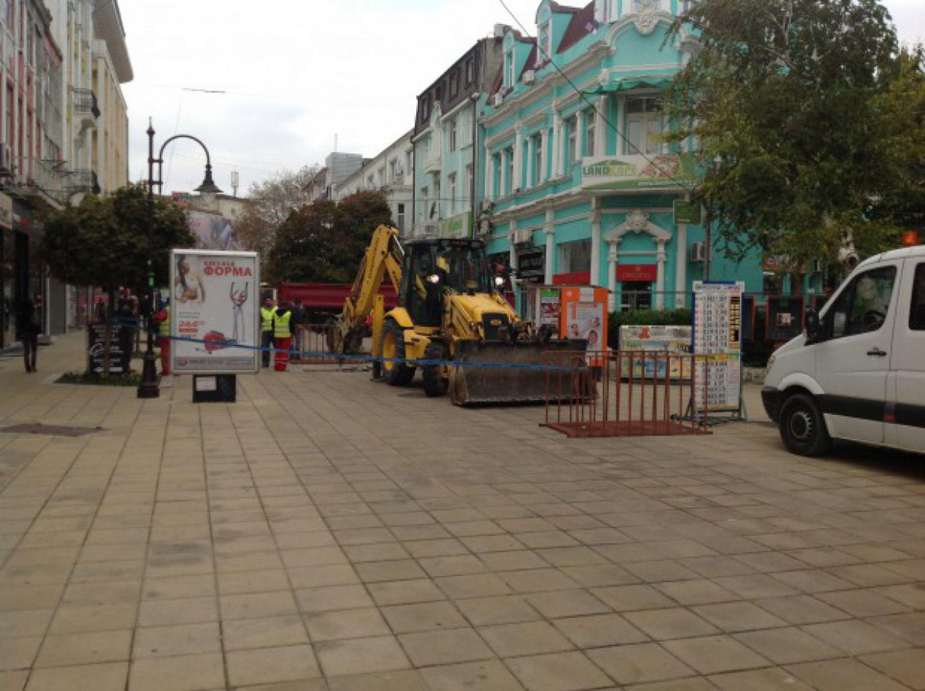 Започва ремонт на пешеходни зони във Варна