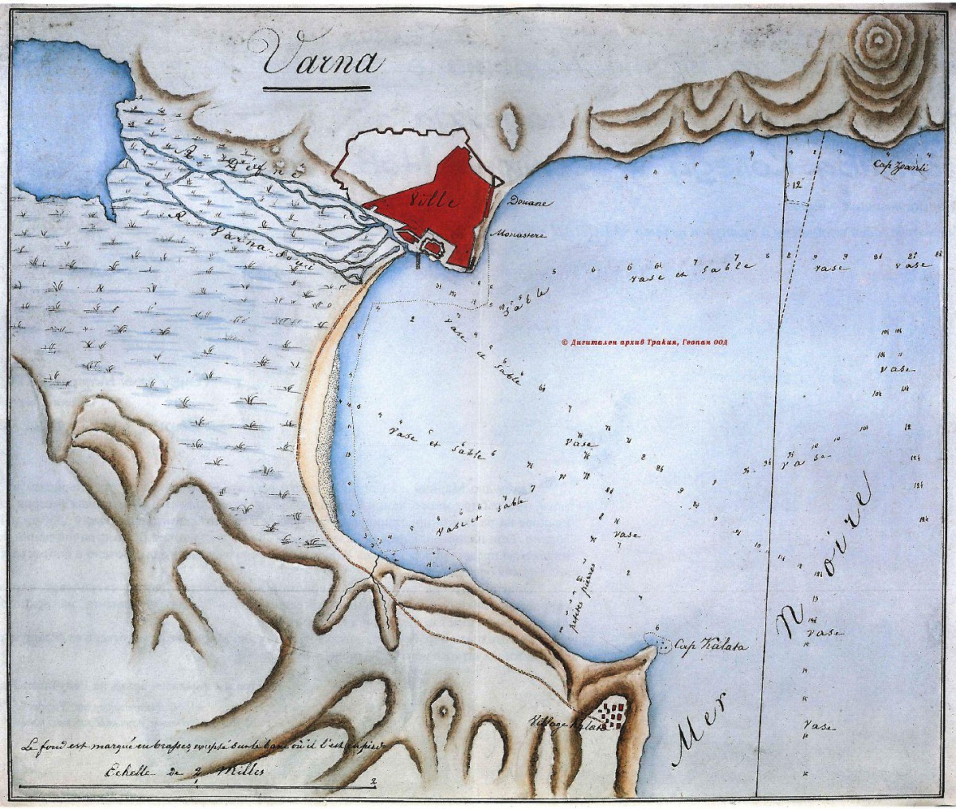 План на залива на Варна 1830г